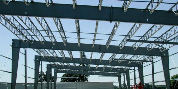 Steel building construction process