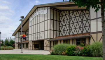 Mt. Angel Festhalle Steel Building in Mt. Angel, Oregon