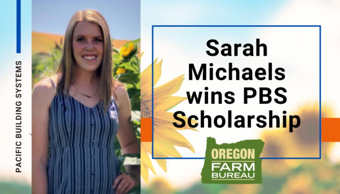 PBS Scholarship Raffle Winner Sarah Michaels