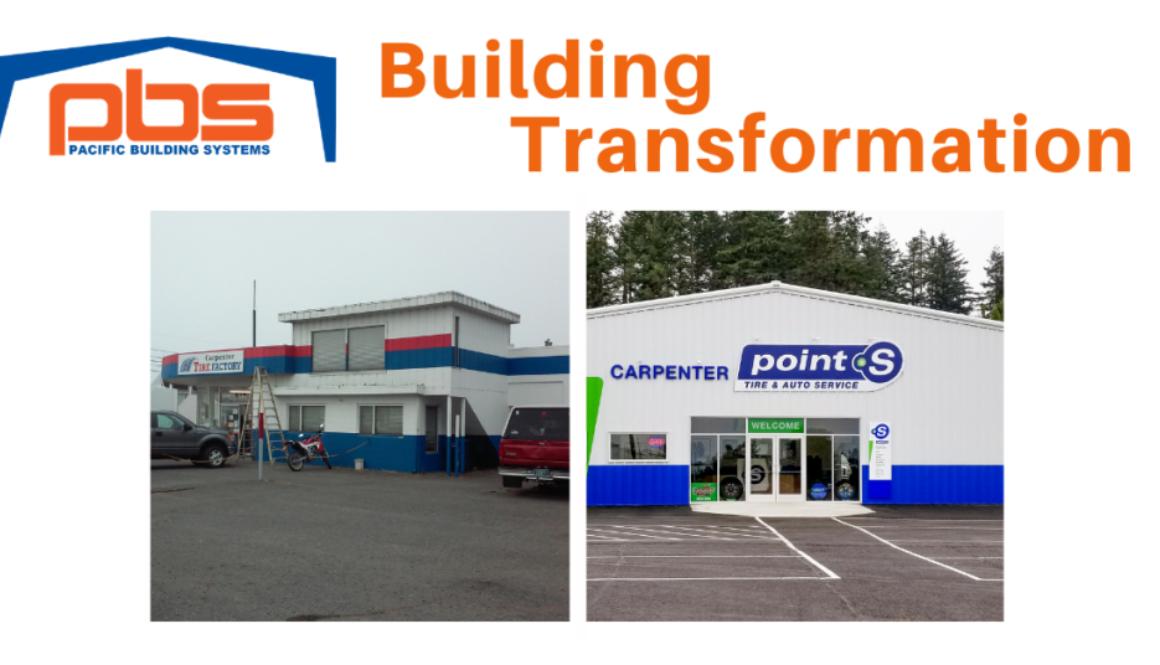 PBS Tire Center Metal Building Transformation