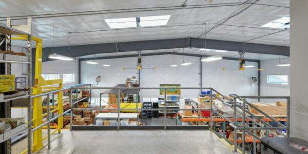 Steel Building Shop with Mezzanine