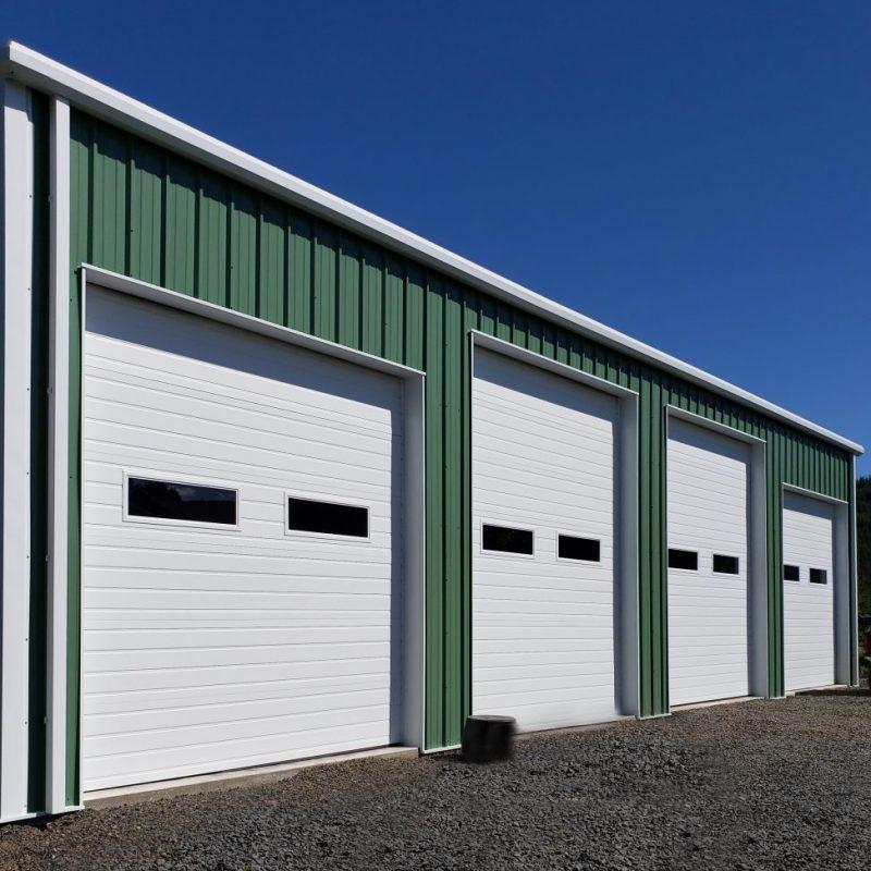 Equipment Storage Steel Building with Rollup Doors