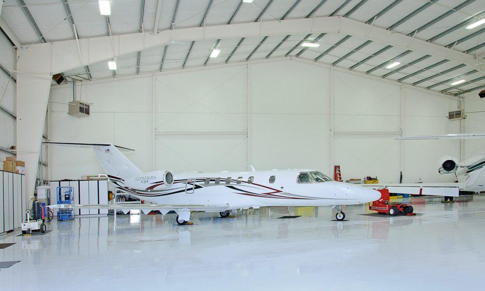 Steel Airplane Hangar at Sunriver Airport