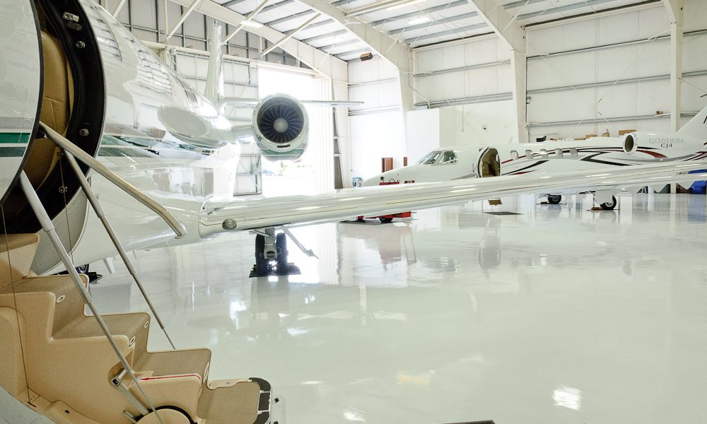 PBS metal buildings hangar in Bend Oregon