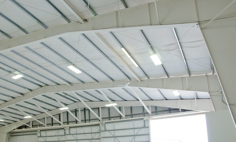 Purlins and Structural White Steel Frames hangar