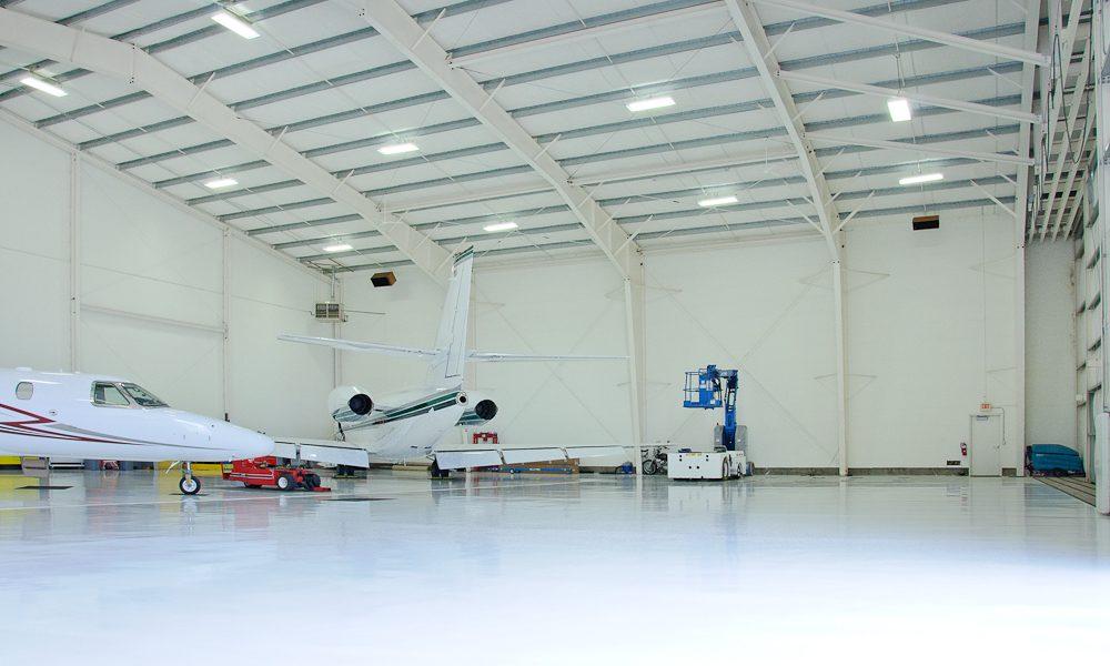 Steel Hangar Interior
